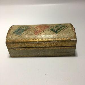 Vintage Florentia Gold Leaf Desser Box